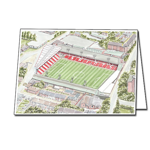 Southampton Football Club - The Dell  - Greetings Card Landscape
