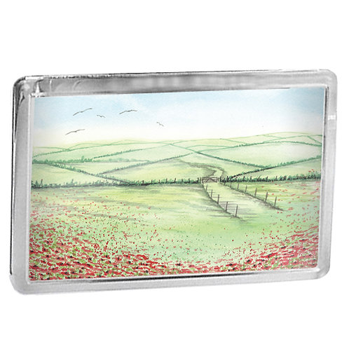 Poppy Field - Fridge Magnet