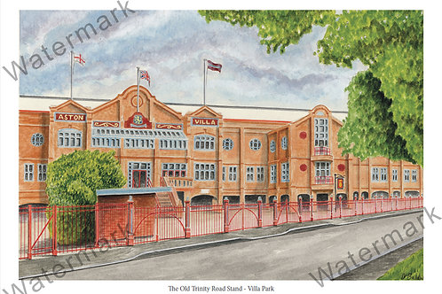 Aston Villa - The Old Trinity Road Stand, Limited Edition Print A4 / A3