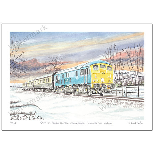 Class 24 Diesel On The GWR,  Print A4 or A3