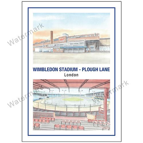 Wimbledon Stadium - Plough Lane Two Views, Limited Edition Print A4 / A3