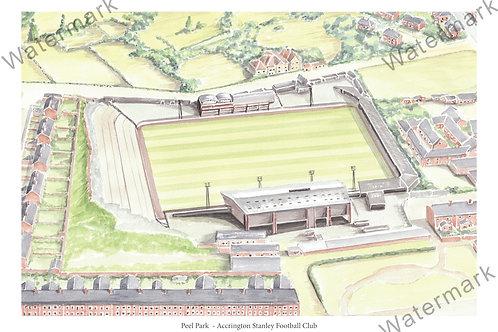 Accrington Stanley - Peel Park, Limited Edition Print A4 / A3