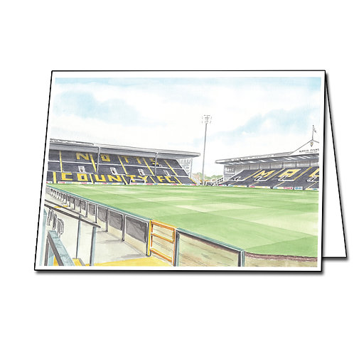 Notts County Football Club - Inside Meadow Lane - Greeting Card Landscape, A5/A6