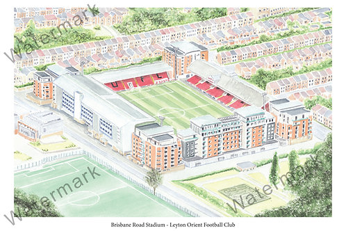 Leyton Orient FC - Brisbane Road Stadium, Print A4 or A3