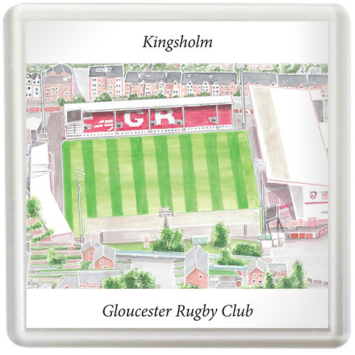 Gloucester Rugby - Kingsholm Aerial View- Coaster