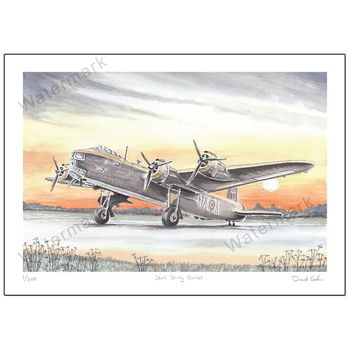 Short Stirling Bomber,  Print A4 or A3