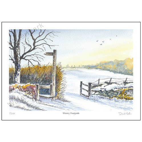 Wintry Footpath, Limited Edition Print A4 or A3