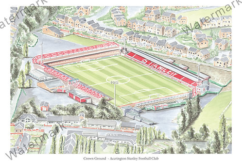 Accrington Stanley, Crown Ground - Print A4 or A3
