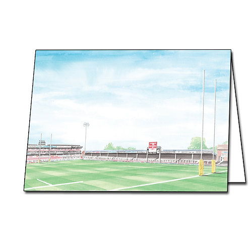 Gloucester Rugby Club - Kingsholm The Shed - Greetings Card A5/A