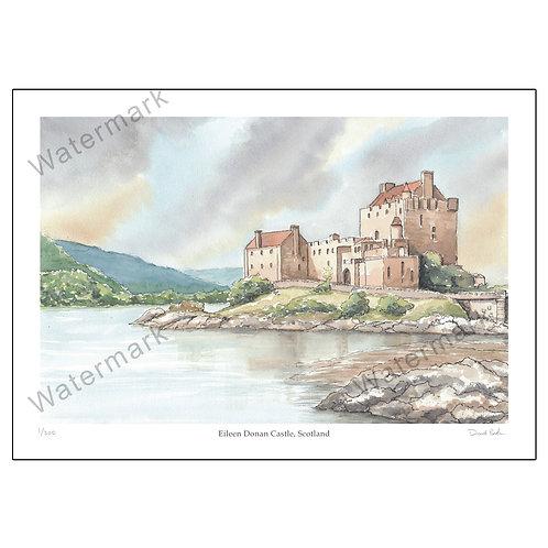 Eileen Donan Castle, Scotland, Print A4 or A3