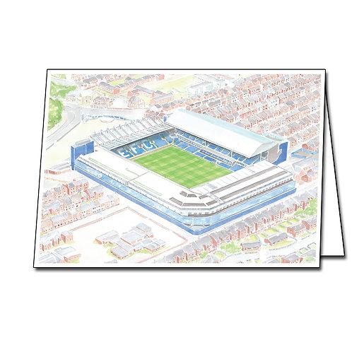 Everton - Goodison Park - Greetings Card Landscape, A5/A6