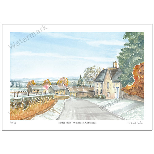 Winter Frost - Windrush, Cotswolds, Print A4 or A3