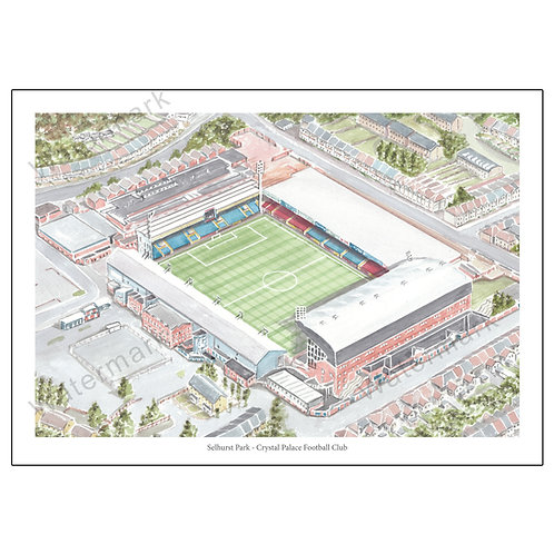 Crystal Palace Football Club - Selhurst Park, Limited Edition Print A4 / A3