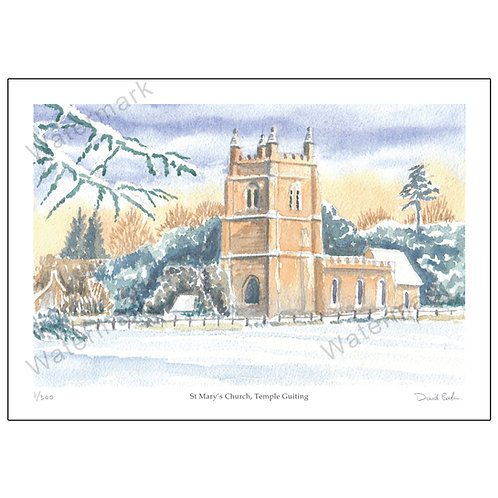 St Mary's Church, Temple Guiting, Print A4 or A3