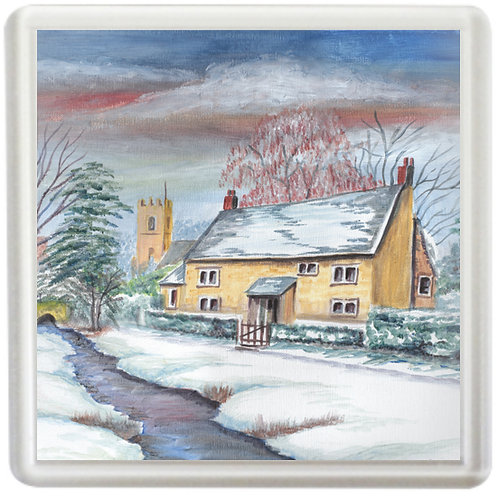 Wintry Cottage - Coaster