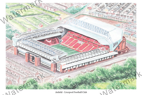 Liverpool - Anfield, Limited Edition Print A4 / A3