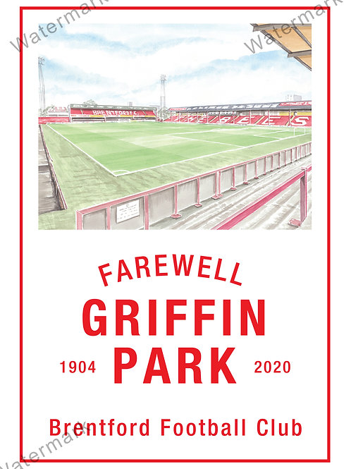 Brentford FC - Farewell Griffin Park Poster, Print A4 or A3