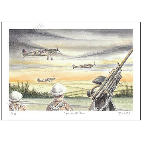 Spitfires At Dawn,  Print A4 or A3