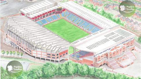 Aston Villa - Aerial View Villa Park