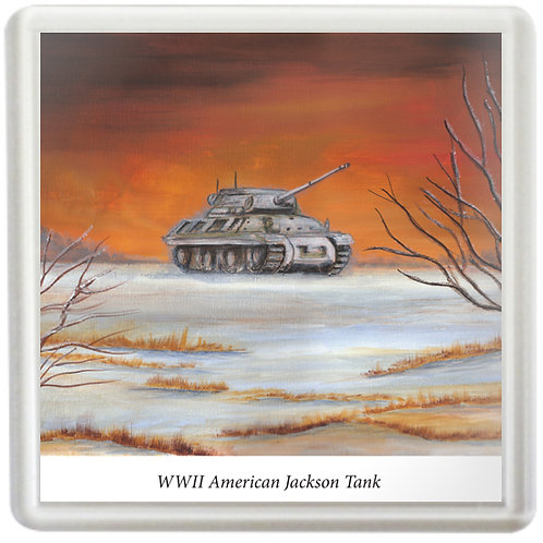 American Jackson Tank Before Battle - Coaster