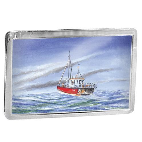 Fishing Boat At Sea - Fridge Magnet