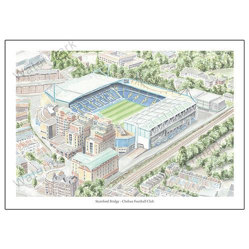Chelsea - Stamford Bridge Study 2, Limited Edition Print A4 / A3
