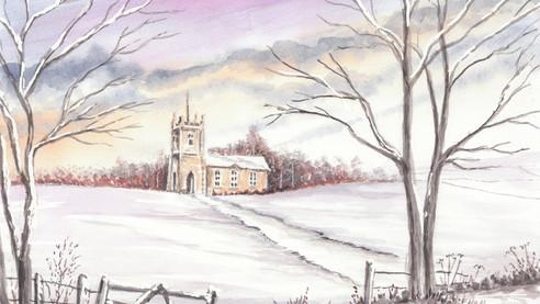 Wintery Church