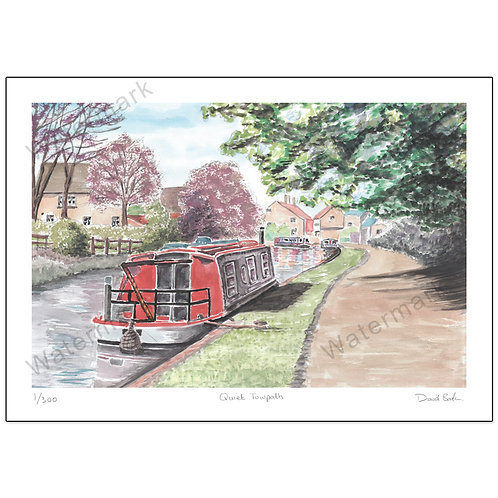 Quiet Towpath, Print A4 or A3