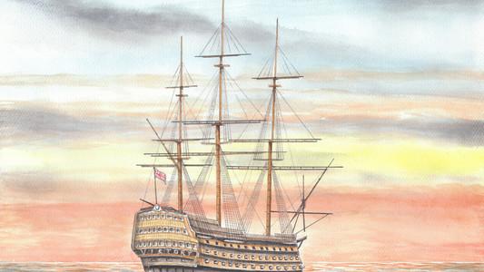 HMS Victory study 2