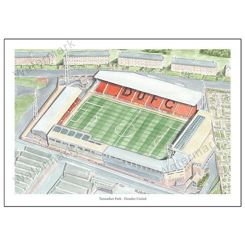 Dundee United - Tannadice Park, Print A4 or A3