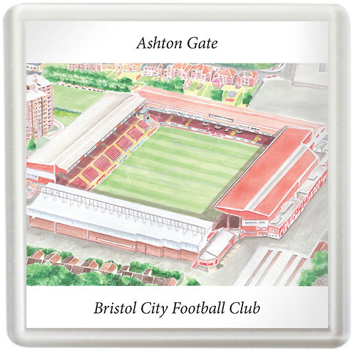 Bristol City - Ashton Gate Stadium Bygone - Coaster