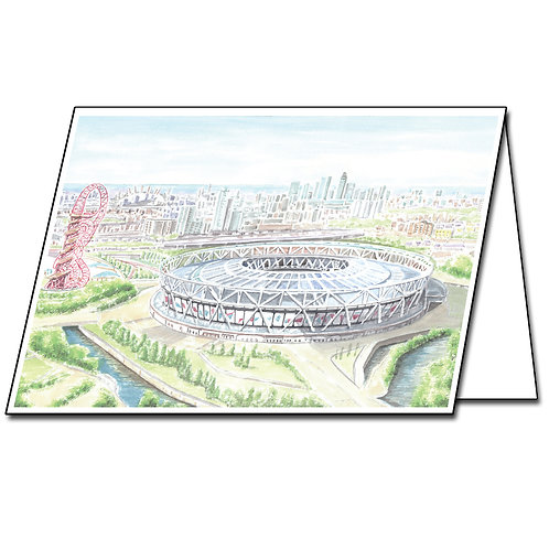 West Ham United, The London Stadium - Greetings Card Landscape, A5/A6