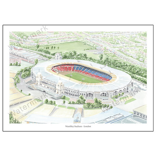 Old Wembley Stadium - London, Limited Edition Print A4 / A3