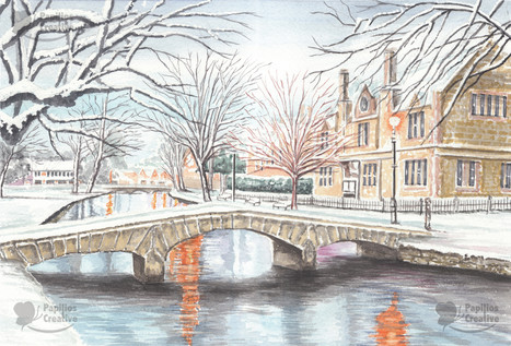 Snowy Bourton-on-the-Water