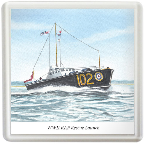 WWII RAF Rescue Launch - Coaster