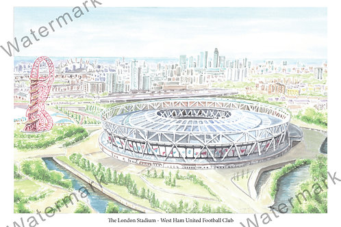 West Ham United - The London Stadium, Limited Edition Print A4 / A3