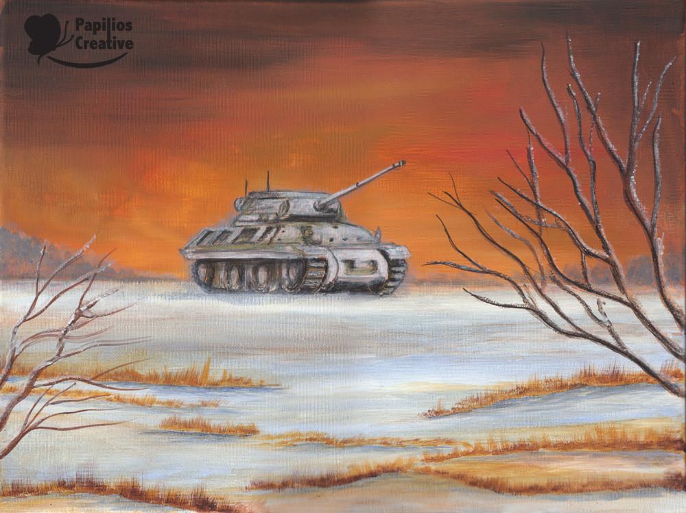 American Jackson Tank Before Battle