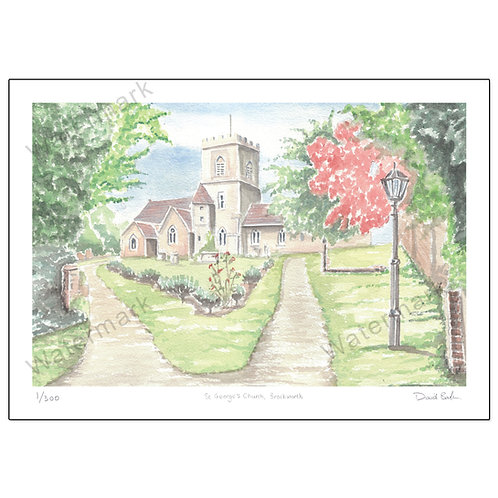 St George's Church Brockworth, Limited Edition Print A4 or A3