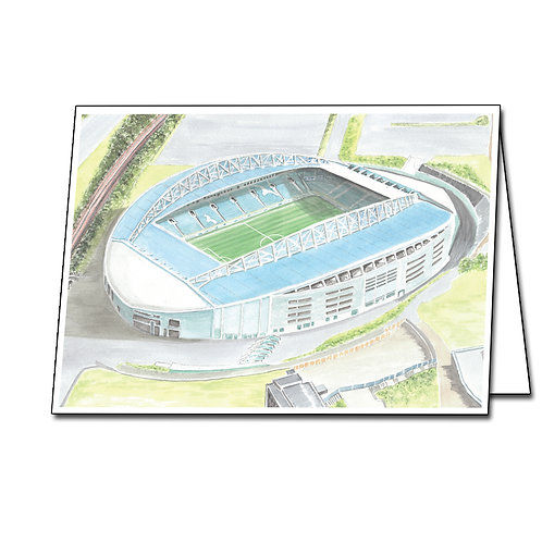 Brighton and Hove Albion - Amex Stadium - Greetings Card Landscape, A5/A6