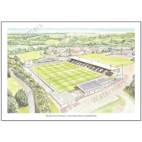 Forest Green Rovers Football Club - The New Lawn Stadium, Print A4 or A3