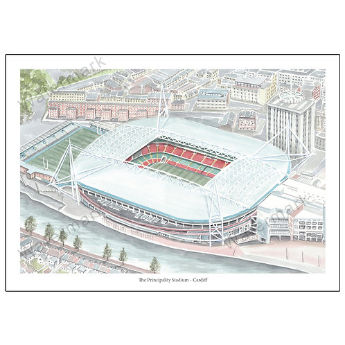 The Principality Stadium - Cardiff, Limited Edition Print A4 / A3