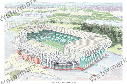 Celtic FC - Celtic Park, Print A4 / A3