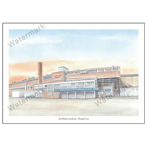 Wimbledon Stadium, Plough Lane - Outside View, Limited Edition Print A4 / A3