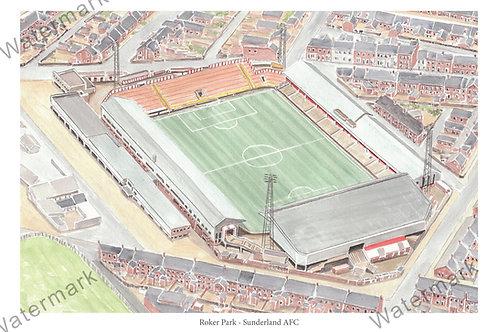 Sunderland AFC - Roker Park, Print A4 or A3