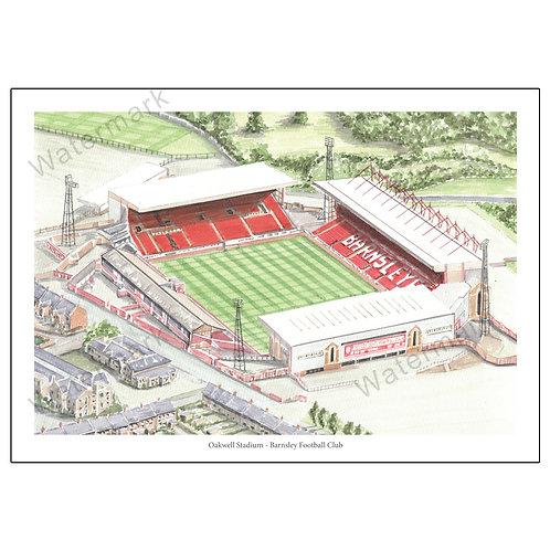 Barnsley Football Club - Oakwell Stadium, Print A4 or A3