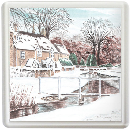 Lower Slaughter In Winter - Coaster