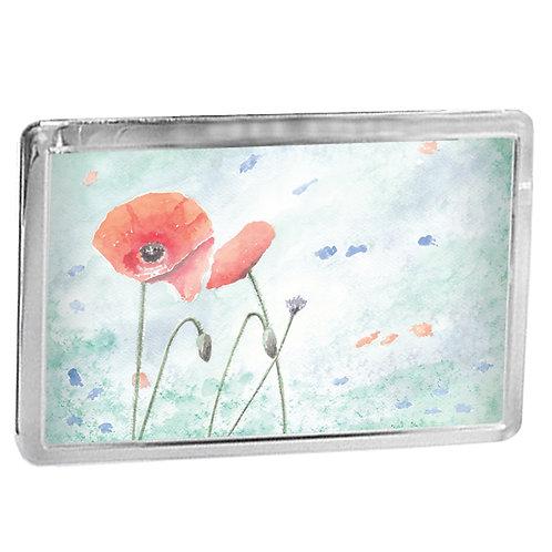 Wild Poppies - Fridge Magnet