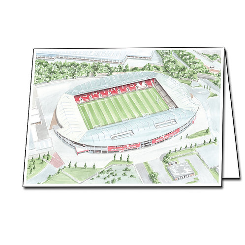 St Helens RFC - Totally Wicked Stadium - Greetings Card A5/A