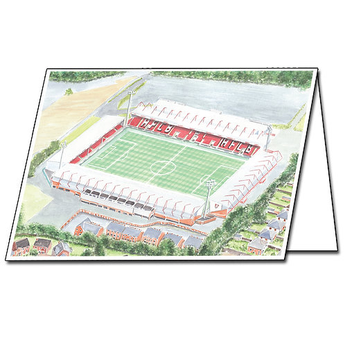 Bournemouth - The Vitality Stadium - Greetings Card Landscape, A5/A6