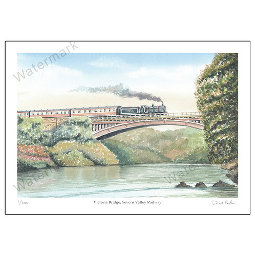 Victoria Bridge, Severn Valley Railway, Print A4 or A